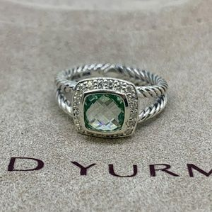 David Yurman Petite Albion Ring Prasiolite Diamond